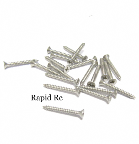 2.2mm x 19mm Stainless steel Counter Sunk Phillips Head Self Tapping screw